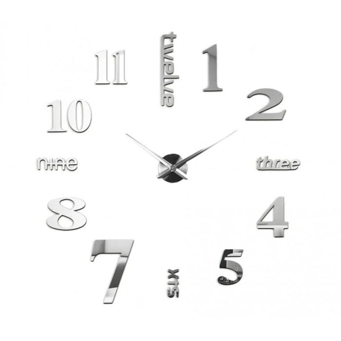 N st nn samolepic 3d hodiny 100cm h a d e x spol s - Relojes de pared grandes modernos ...